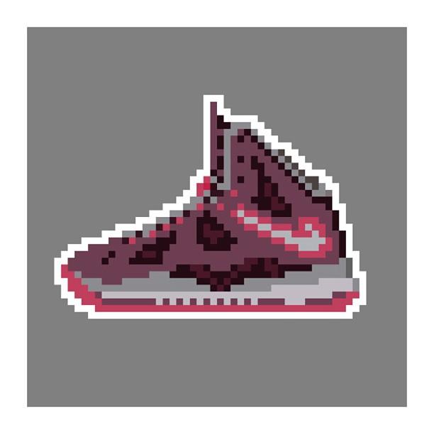 KIXEL8-8-bit-sneaker-a-day-art-project.-Day-22-Lebron-10-Fireberry-kixel8-kurtzastan-kicks-kicks0l0g1