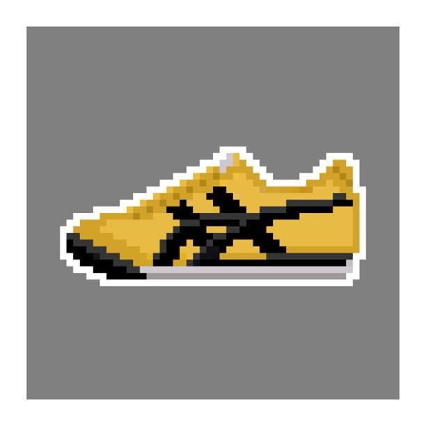 KIXEL8-8-bit-sneaker-a-day-art-project.-Day-23-Asics-Onitsuka-Tiger-YellowBlack-kixel8-kurtzastan-ki
