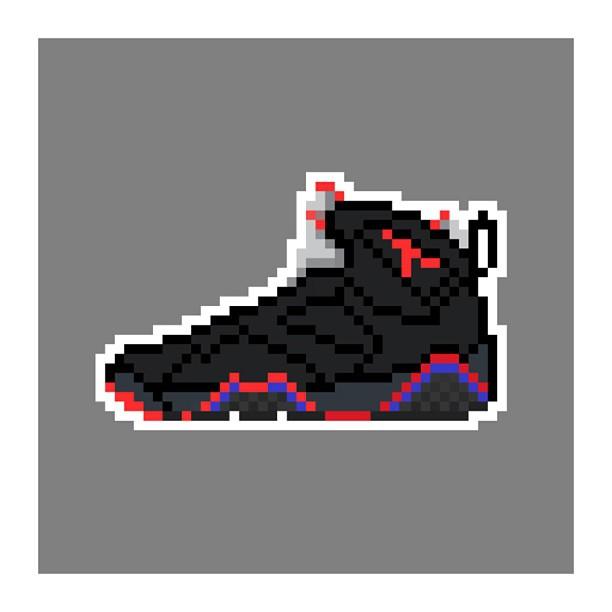 KIXEL8-8-bit-sneaker-a-day-art-project.-Jordan-7-Raptors-kixel8-kurtzastan-kicks-jordan-jordan7-rapt