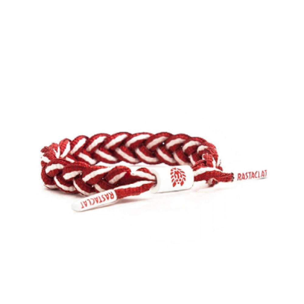 Rastaclat_Braided Shoelace Bracelet_Red Rocket_RC001SRDWT-1000×1000