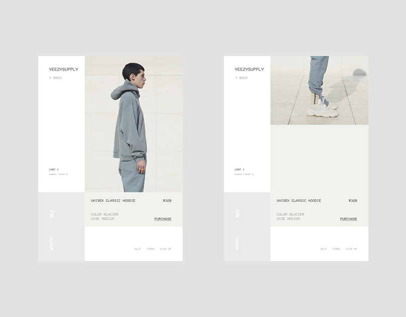 Yeezy Supply – Web Design