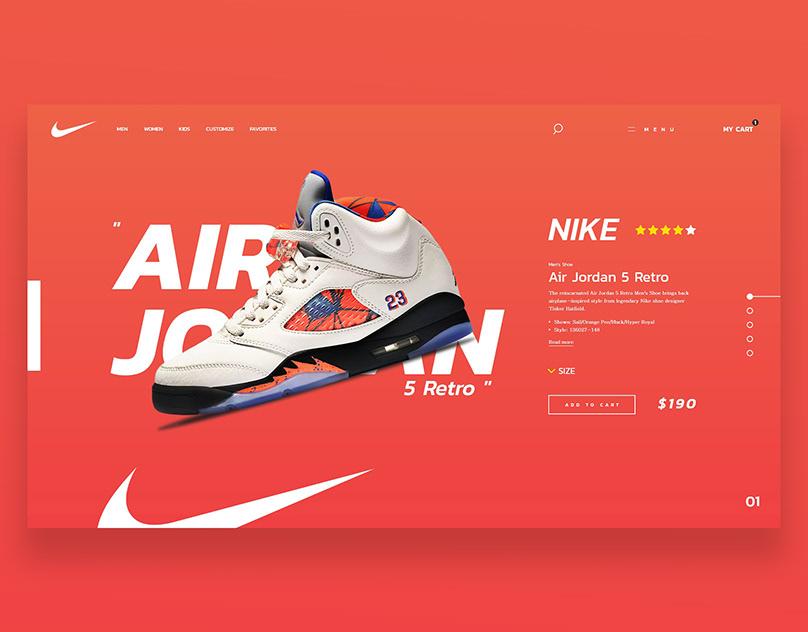 NIKE AIR JORDAN WEB DESIGN
