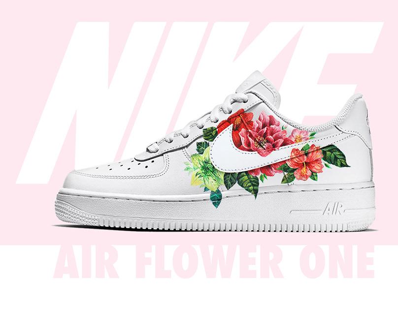 Custom Nike Air Flower 1