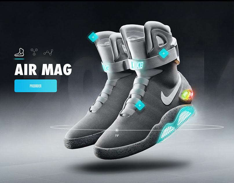 Nike Air Mag – Microsite & App Concept