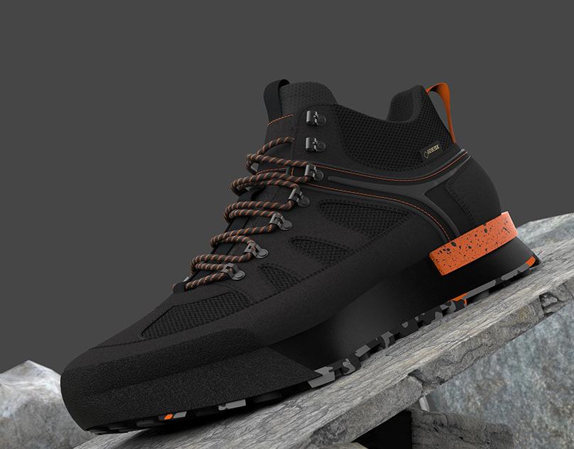 3D Hiking Shoe Presentation