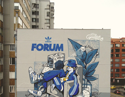 Adidas Forum – Gran formato